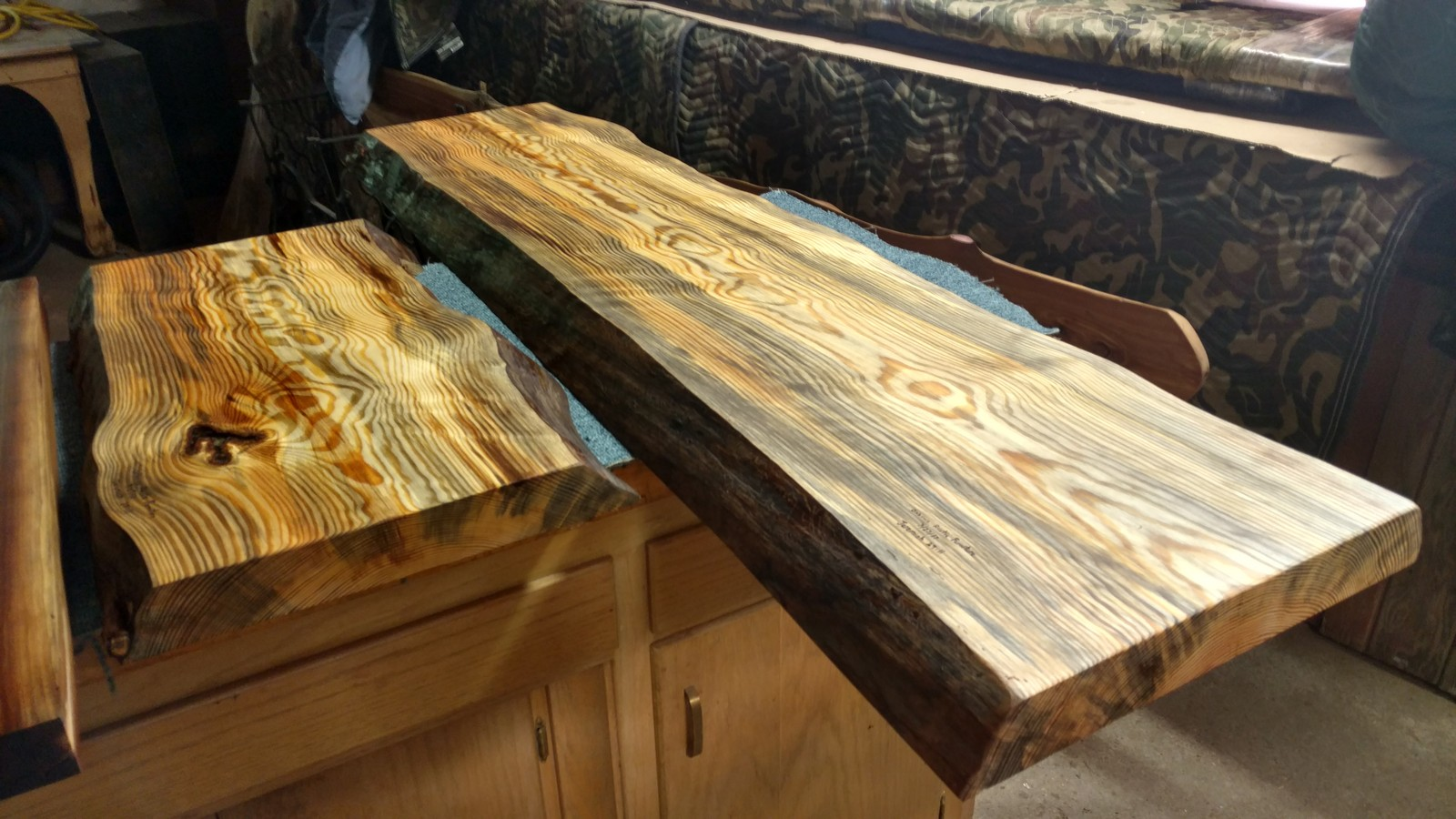 Blue Stain Pine Sofa Table Tops Oxbows Furniture